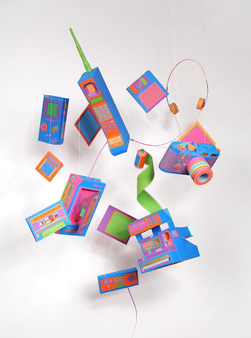 Paper sculptures - 80s - Zim & Zou