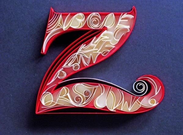 Paper typography by Sabeena Karnik
