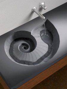 Fossil sink - spiral