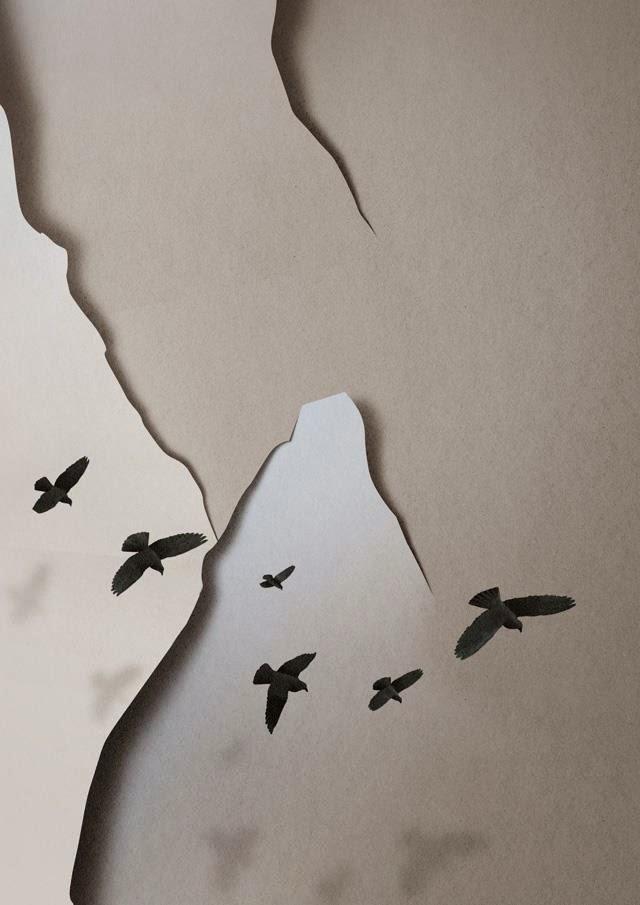 Paper Landscape – Illustration by Eiko Ojala