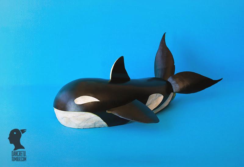 Killer Whale - eggplant - Dancretu sculptures