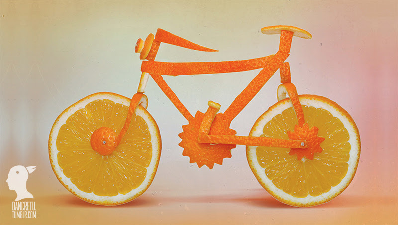 Bicycle - orange - Dancretu sculptures