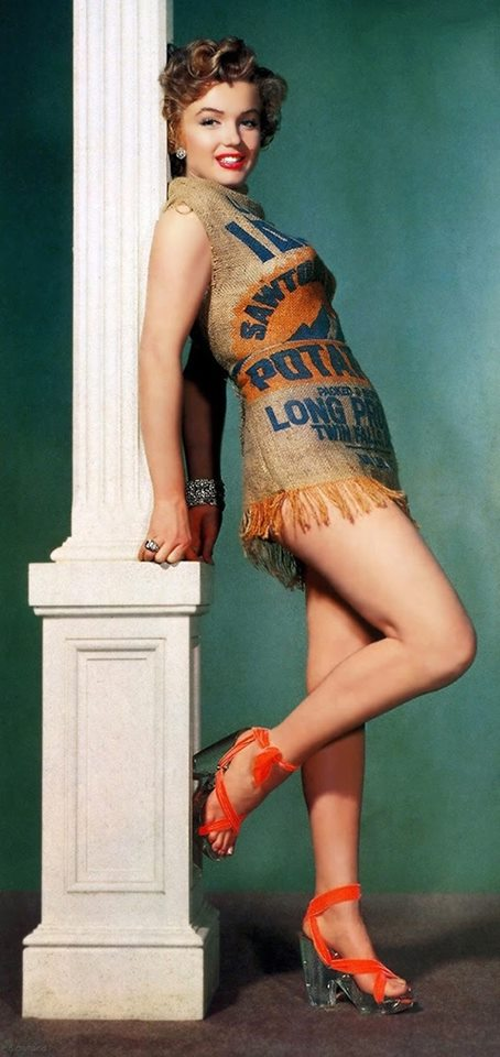 Marilyn Monroe - Potato Sack Dress, 1951