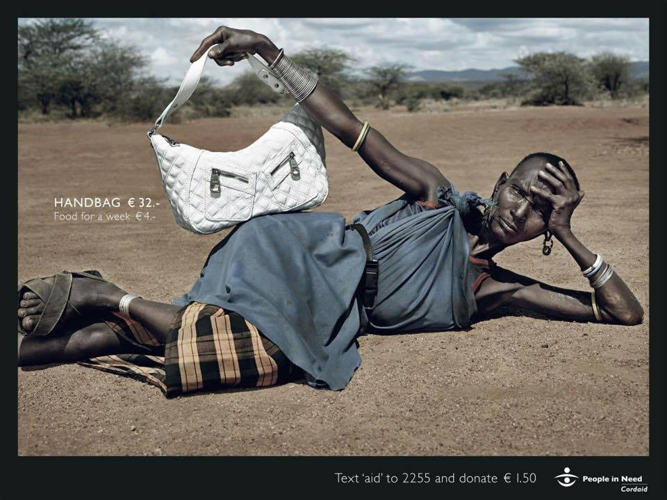 """People in need"" campaign by Cordaid - food aid"