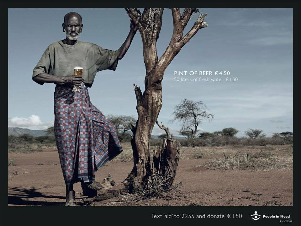 """People in need"" campaign by Cordaid - water aid"