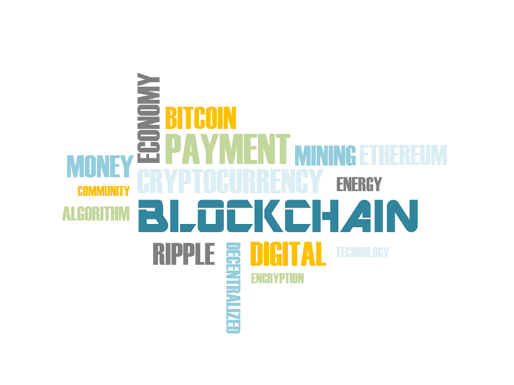 blockchain - word cloud
