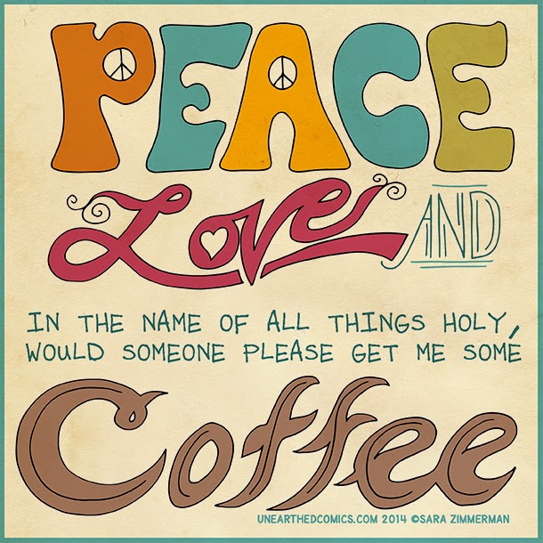 peace - love - coffee