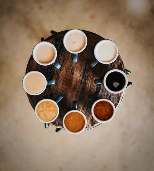 choice of coffee flavors