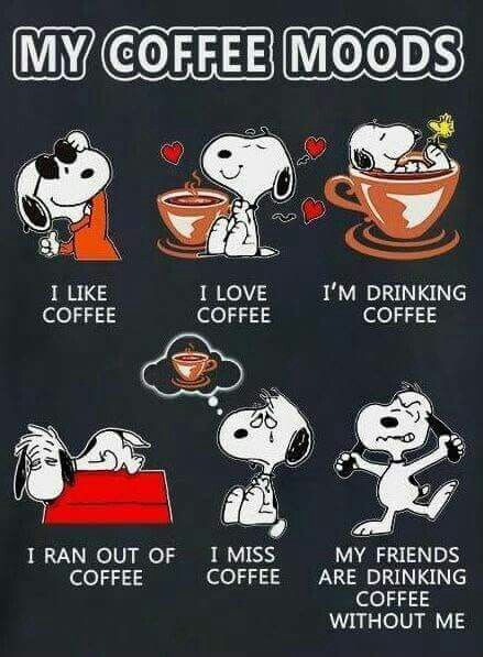 snoopy - coffee - moods