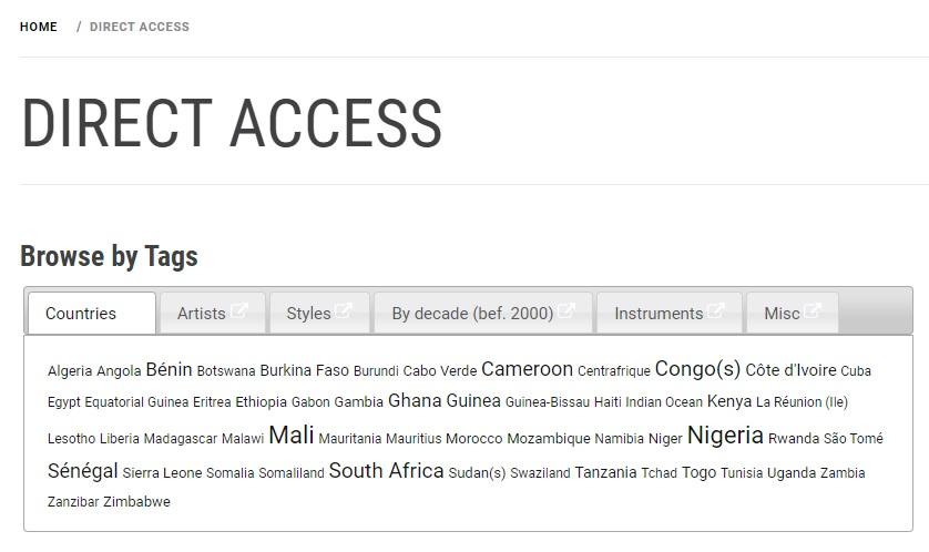 African Music Forum - Direct Access (Tags)