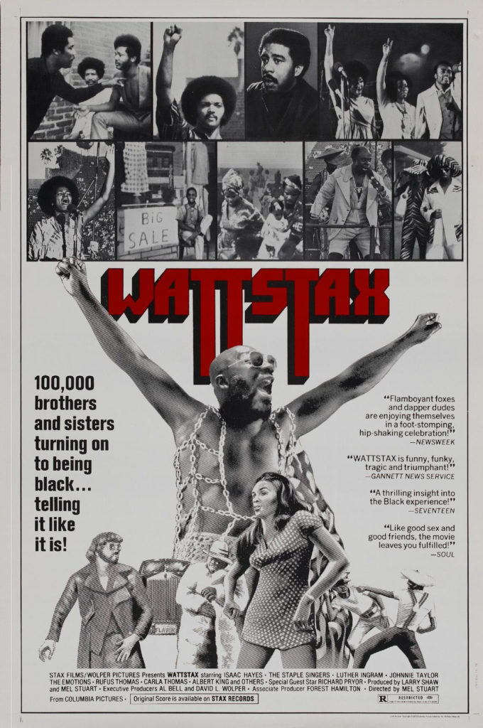 Wattstax avec Isaac Hayes, Rufus Thomas, The Staple Singers, Eddie Floyd, The Bar Kays