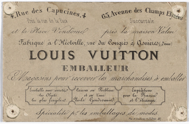 layetier emballeur Louis Vuitton