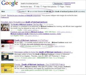 SEO - Michael Jackson - Google