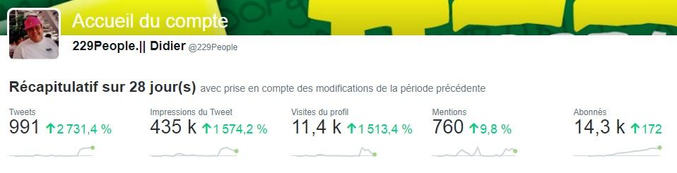 Statistiques animation 229people Twitter dernier jour