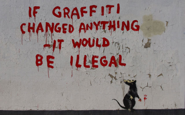 Banksy - graffiti... - street art