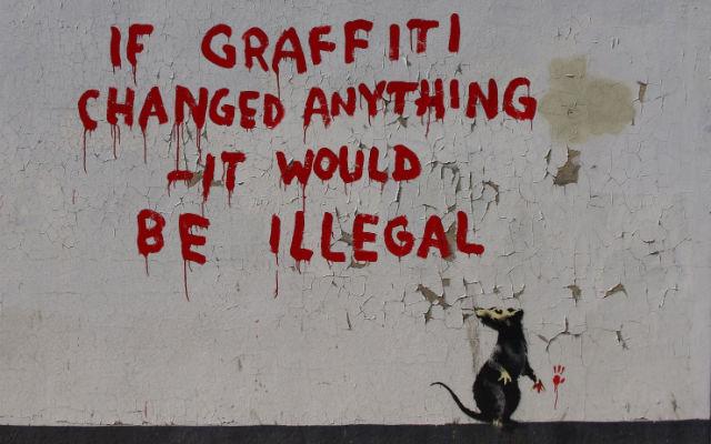 Banksy - graffiti... - street art