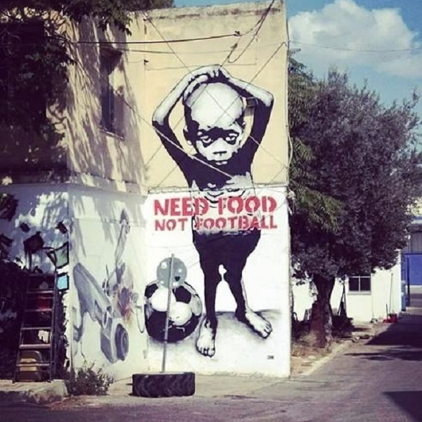 Street Art - Food not Football