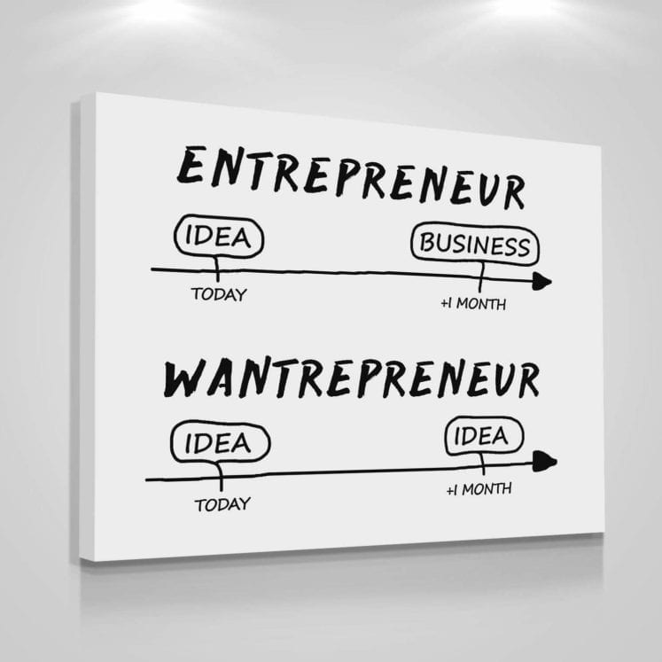 entrepreneur vs wantrepreneur