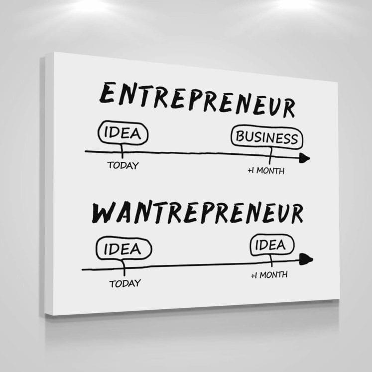entrepreneur vs wantrepreneur