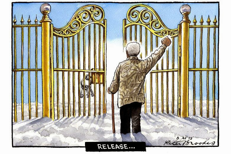 Nelson Mandela Madiba - cartoon