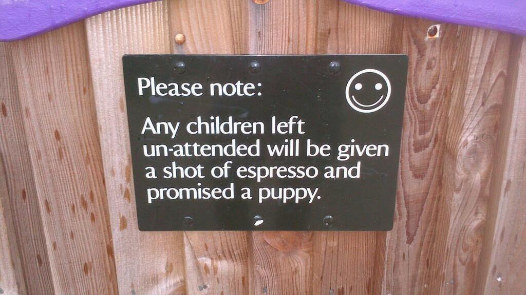 unattended children vs expresso & puppy