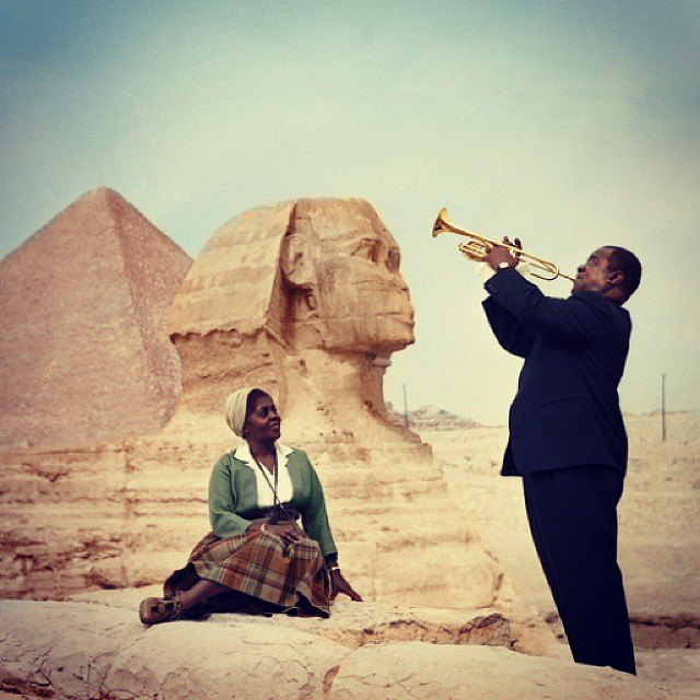 "Louis ""Satchmo"" Armstrong in Egypt"