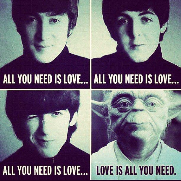 Love is all you need - Beatles vs Star Wars (Yoda)