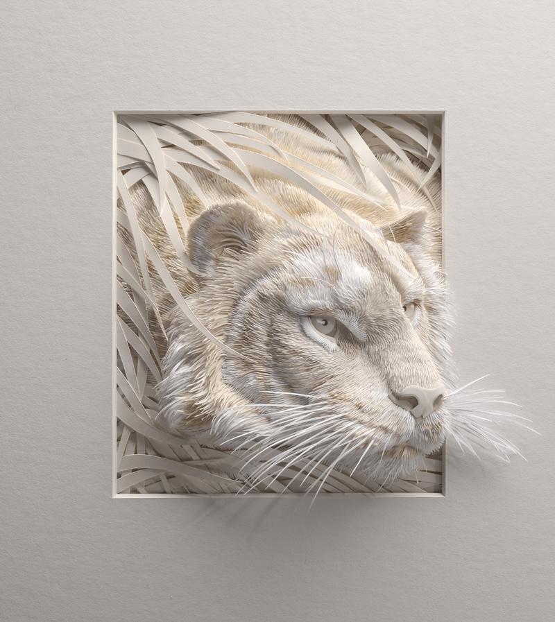 Amazing paper sculptures - tiger