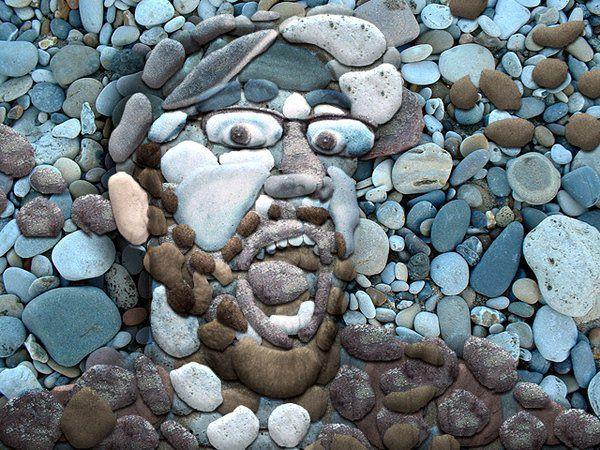 Creativity - stone art - pebble art