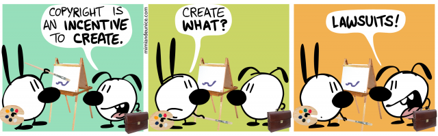 Copyright as incentive to create (copying is not theft)