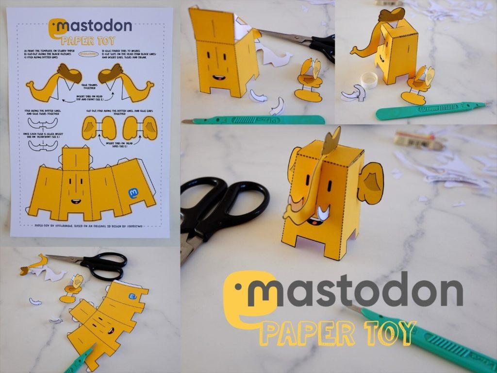 Mastodon Paper Toy
