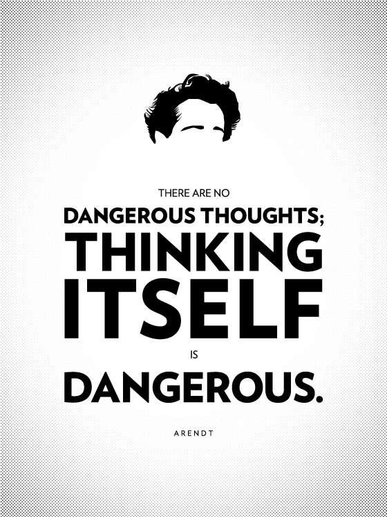 philosophy poster - Max Temkin - Hannah Arendt - Thinking
