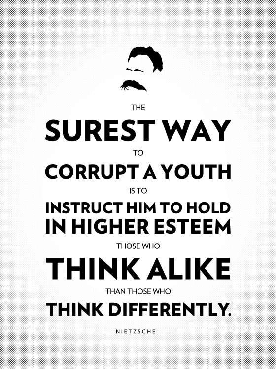 philosophy poster - Max Temkin - Nietzsche pensée unique