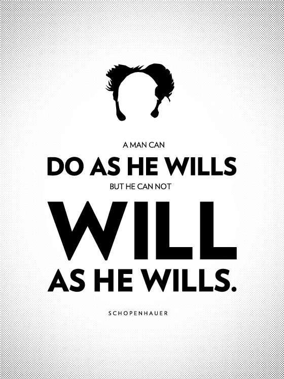 philosophy poster - Max Temkin - Schopenhauer et la volonté