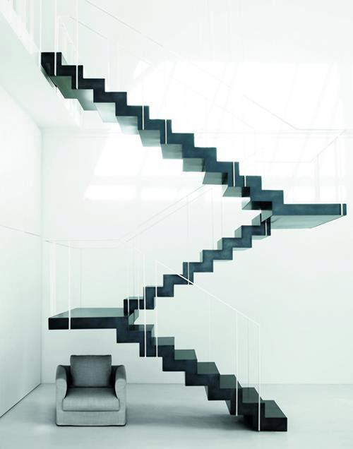 Transparent stairs